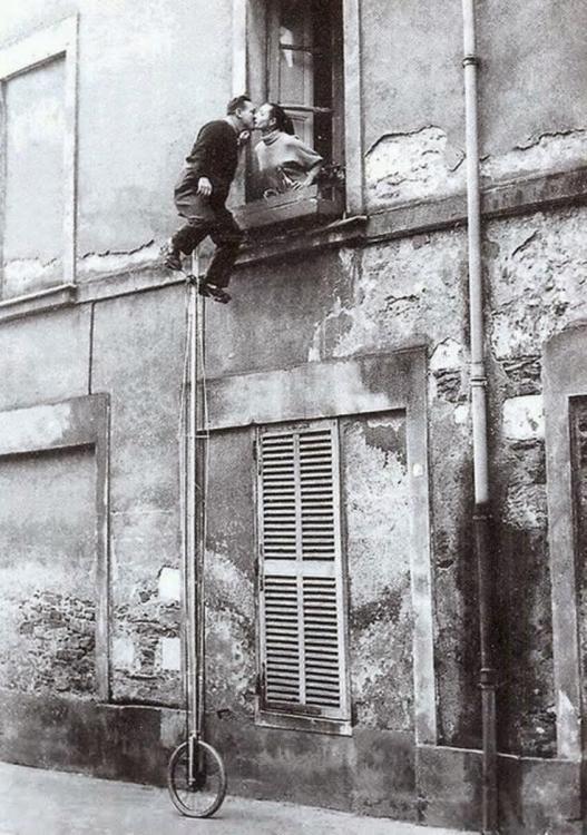 Unicycle Window Kiss, ca. 1950s.jpg
